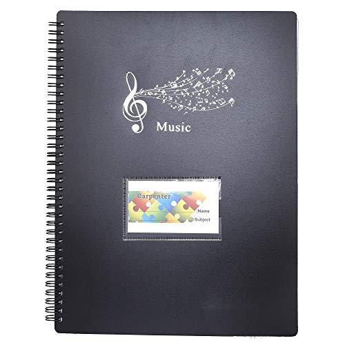 Tamaño A4 Documento de Nota Musical 40 Bolsillos Carpeta Poseedor Caso Carpeta de partituras File Clef Canción de papel de almacenamiento, Bolsa porta documentos