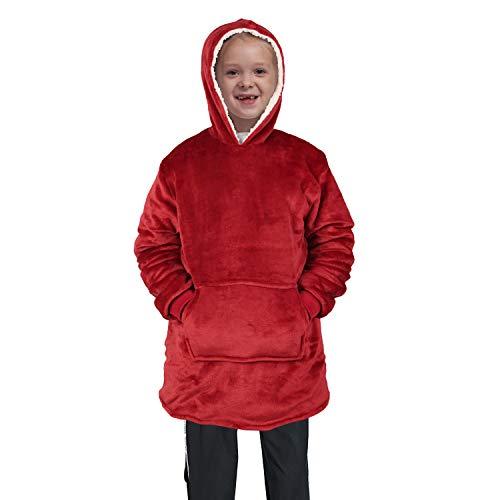 softan Sherpa-Kapuzenpullover-Sweatshirt-Decke,superweiche warme kuschelige Riesen-Kapuzenpullover Große Vordertasche für Kinder,Geschenkverpackung