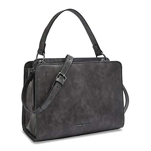 MARCO TOZZI Damen Handtasche 2-2-61034-25, DK.Grey Comb, 1 EU