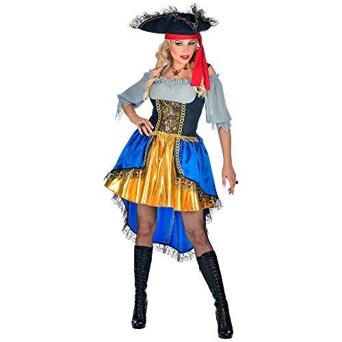 WIDMANN-Capitano Pirata Costume Donna, Multicolore, (M), 07162
