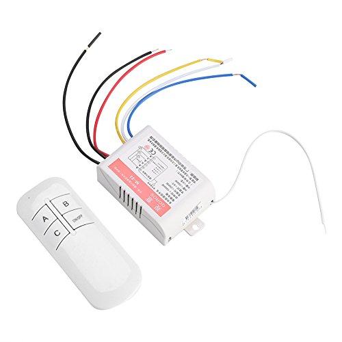Fdit Controlador de lámpara de luz 220V Receptor Transmisor Sistema de Interruptor de Control Remoto inalámbrico Mejoras para el hogar(#3)