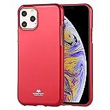 ZHANGHUI Funda Protectora Mercurio Jelly TPU Prueba de Golpes y arañazos Caso for el iPhone 11 Pro MAX (Rojo) (Color : Gold)