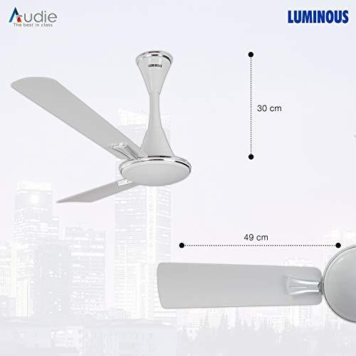 Luminous Audie 1200mm 70-Watt Ceiling Fan (Mirage White)
