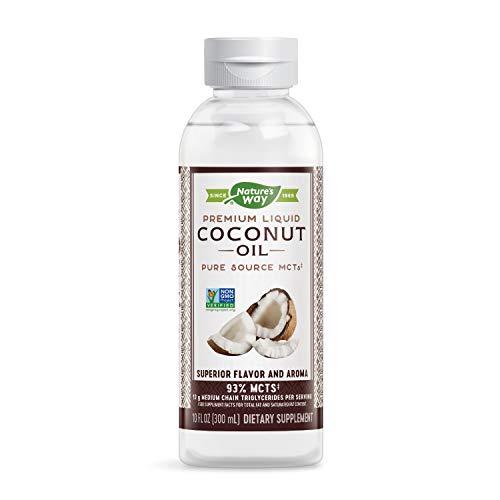 Nature's Way Premium Liquid Coconut Oil, Pure Source MCTs, Non-GMO, 10 Fl. Oz.