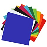 XLNTTECH 10 Pieces & 10 Colored Acrylic Plastic Sheet 12 x 12 Inch (.118' Thick)(no-Transparent), for Signs, DIY Projects
