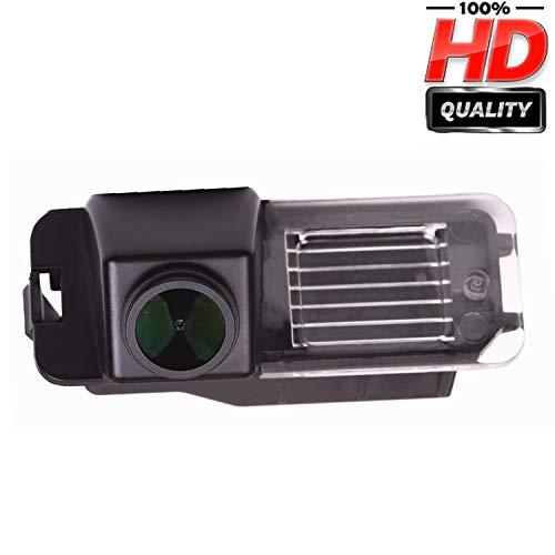 HD 1280x720p Wasserdicht Rückfahrkamera in Kennzeichenleuchte Einparkhilfe Kamera Nachtsicht Einparkkamera für VW EOS, Golf V MK5, Passat B7 CC, Golf VI MK6 Amarok/Robuster Seat Leon Altea Superb I