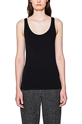 edc by ESPRIT Damen 997CC1K816 Top, Schwarz (Black 001), L
