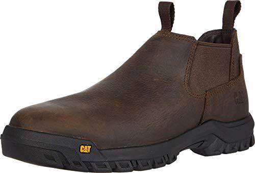 Caterpillar Men's Outline Slip ON ST Construction Shoe, Seal Brown, 11
