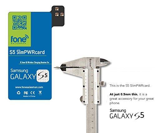 S5SlimPWRcard–0,5mm, Qi-Empfänger, Kartenmodul für Samsung Galaxy S5V, kompatibel mit S-View-Cover, empfohlen für QiStone+ & WoodPuck oder KoolPad, für SM-G900V, SM-G900R4, SM-G900P, SM-G900T, SM-G900A, SM-G900M, Samsung SM-G900i und andere G900-Modelle