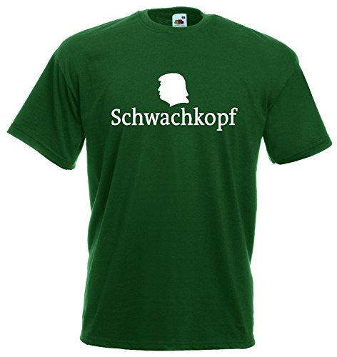 World-of-Shirt Unisex T-Shirt Schwachkopf Trump Funshirt|dunkelgrün-M