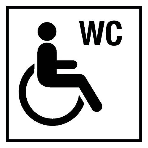 Türkennzeichnung - WC barrierefrei - Aluminium Selbstklebend - 30 x 30 cm