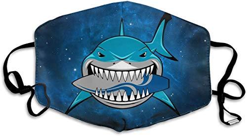 Hai mit Skateboard Unisex Anti Dust Gesichtsmundmaske für unterwegs