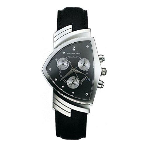Hamilton Herren Chronograph Quarz Uhr mit Leder Armband H24412732