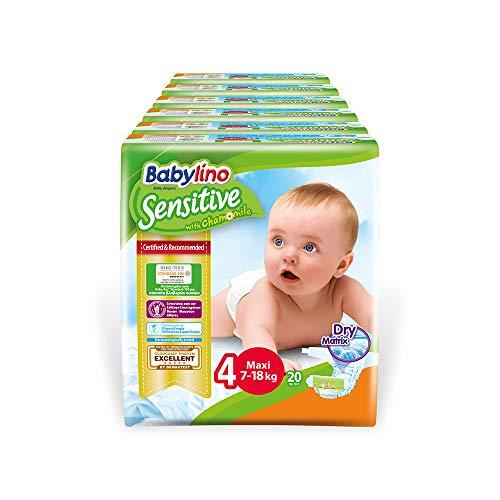 Babylino Sensitive Maxi, 120 Pannolini Taglia 4 (7-18Kg)