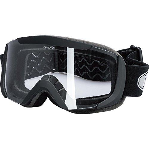 Nexo Schutzbrille, Helmbrille Motorradhelm Kinder Profi Brille 1.0 Mattschwarz, Cross/Offroad, Ganzjährig, Polycarbonat, Einheitsgröße