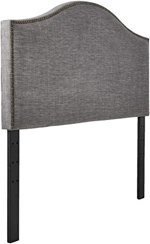 Amazon Brand – Ravenna Home Haraden Modern Curved-Top King Bed Headboard, 82'W, Grey