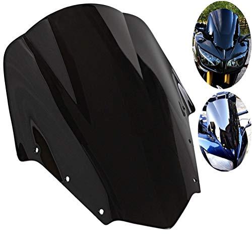Motocicleta ABS Plásticos Parabrisas Negro Deflectores De Viento En Forma Fit For Yamaha FZ1 FZ1S Parabrisas FZS1000S 2006-2011 Pantalla Escudo Deflector De Viento Motocicleta Deflector de viento para