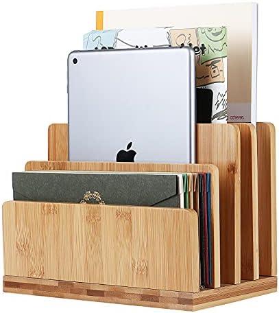 100% Bamboo Desk File Mail Organizer,Stahala...