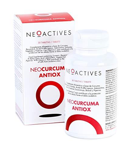 NeoCurcuma Antiox | Complemento Alimenticio de Cúrcuma y Más Ingredientes Naturales Suplemento Vegano | Contribuye al Normal funcionamiento del sistema inmunitario y del sistema nervioso (30)