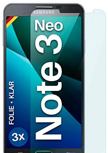 moex Klare Schutzfolie kompatibel mit Samsung Galaxy Note 3 Neo - Bildschirmfolie kristallklar, HD Bildschirmschutz, dünne Kratzfeste Folie, 3X Stück