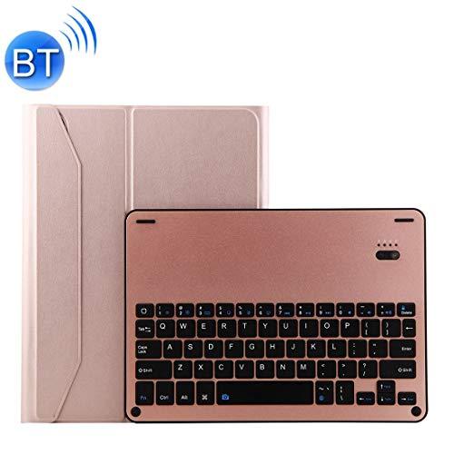 PengSF 1139B toetsenbord van aluminiumlegering Bluetooth 3.0 afneembaar + hoes van Agnello Texture for iPad Pro 11 inch (2018) met drievoudige instelling, magneetfunctie, Roze.