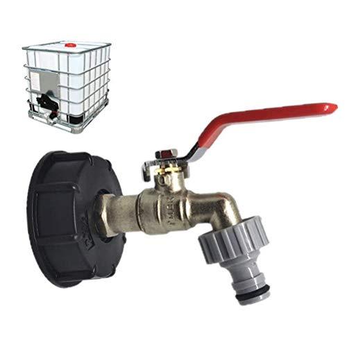 cheap4uk 1 Pieza Grifos de Adaptador de Salida de Tanque Grifos de Tanque de Agua de Lluvia 1000L 1/2 Pulgada para Tanques de jardín de riego de jardín