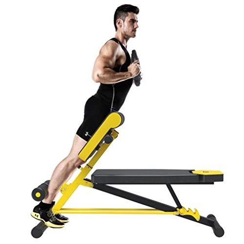Banco de peso ajustable for entrenamiento de cuerpo completo - Durable banco de ejercicio Puede contener hasta 550 libras, plegable plana / inclinación ascendente / descendente banco del entrenamiento