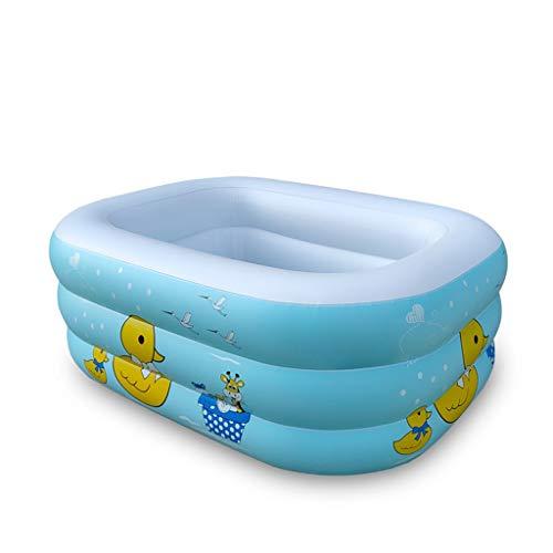 LMJ Pequeño Pato Amarillo Piscinas inflables Piscina Impresión Espesor Piscina para niños para Familia Jardín al Aire Libre Piscina DE Piscina Piscinas (Color : A)
