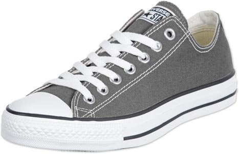 Converse Unisex Chuck Taylor All Star Low Top Sneakers – Charcoal – M US9 / W US11 / EUR42.5