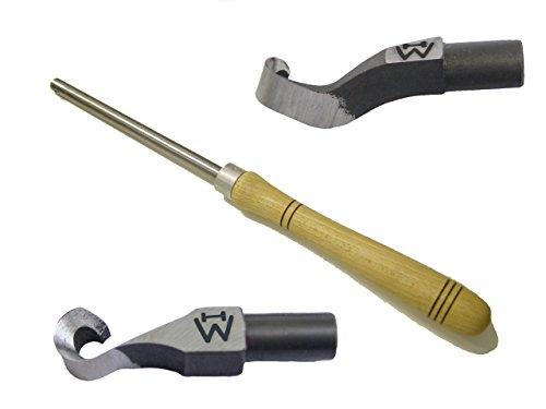 Wiedemann Ausdrehhaken klein gerade und klein gekröpft mit Ø13mm Halterstange für Drechsler/Woodturner