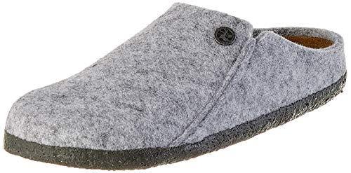 BIRKENSTOCK Damen Zermatt Standard Wollfilz Pantoffeln, Grau (Light Grey Light Grey), 40 EU