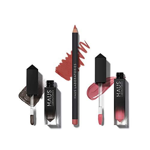 Haus Laboratories By Lady Gaga: Kit De Maquillage Comprenant Un Sac, Un Fard À Paupières Liquide, Un Crayon À Les Lèvres Et Un Gloss À Lèvres