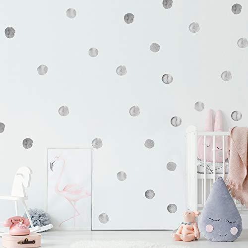 SOOOEC Pegatinas de Pared Infantiles, Murales Adhesivos y Pegatinas de Pared para Bebé Vinilo Infantil Pared Decorativas (Punto Negro, 36 Piezas)