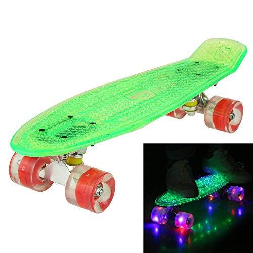 Hikole Cruiser Kinder Skateboard Komplett Retro Mini Crystal Komplettboard, 22