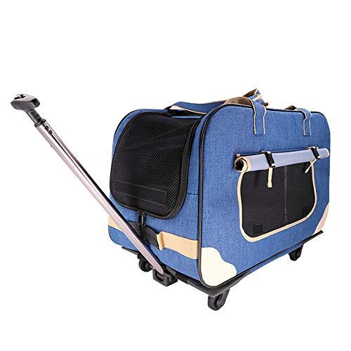 Koffer met vier wielen voor huisdieren Hond kinderwagen schokbestendig en duurzaam met verborgen opvouwbare demontage maakt liefde huisdier veiliger in de mobiele nest