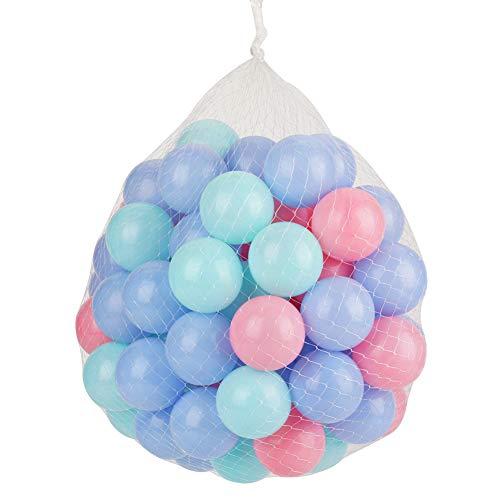 YOPOTIKA Palline colorate per bambini, in plastica morbida, 5,5 cm diametro (100 pezzi)
