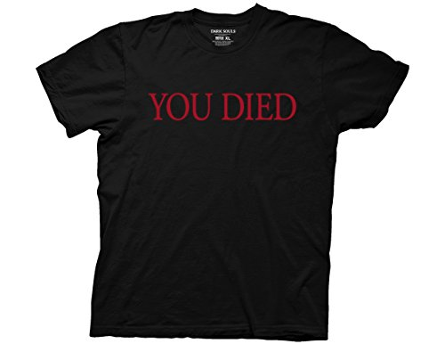 Ripple Junction Dark Souls You Died Adult T-Shirt XL Black