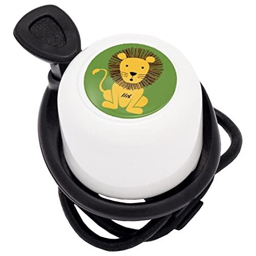 Liix Scooter Bell neu 2021 Lion Löwe Sportliche Fahrradklingel mit lackiertem und wetterbeständigem Metall Ping Klang für Kinder und Erwachsene Elefanten Design und mit Flexibler Gummizug Montage