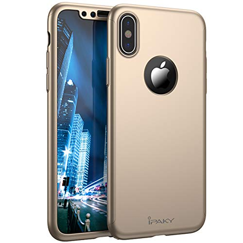 IPAKY Cover di Protezione 360° per iPhone 7 + Kit Vetro temperato di Alta qualità Full Protection with Back Hole for iPhone with Tempered Glass