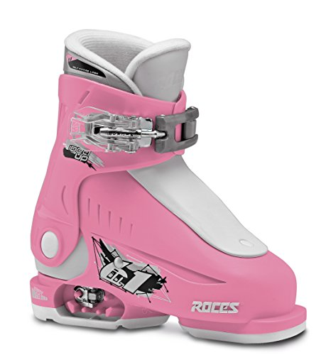 Roces Idea, Scarponi da Sci Bambino, Deep Pink/White, MP 16.0-18.5