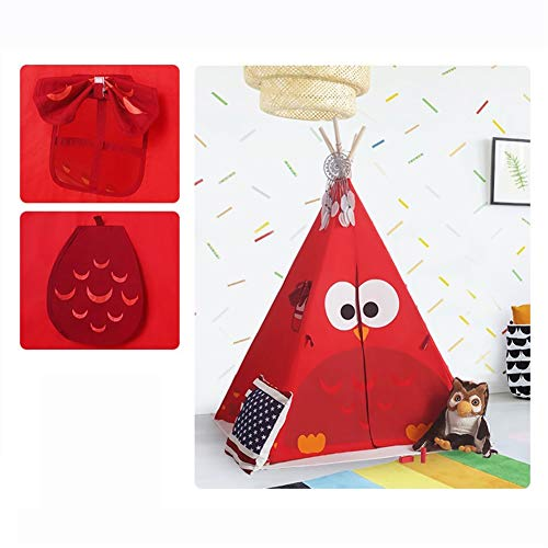 LAMPSJN Play house Animal Park Play Tent Pop Up Play House Ball Pit Tent Foldable Teepee for Children Boys Girls,Indoor Outdoor Toddlers Toy,Birthday Easy Assemble,4 Poles Cotton canvas Playhou