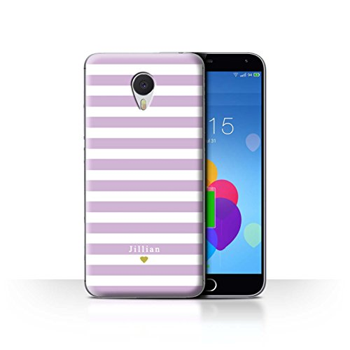 Stuff4 Phone Case/Cover/Skin/mzum3 N/Custom Stripes/Striped Collection Bébé Coeur Rose