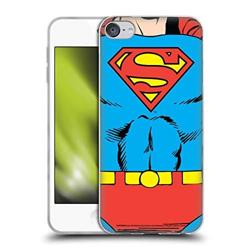 Head Case Designs Licenciado Oficialmente Superman DC Comics Disfraz clsico Logotipos Carcasa de Gel de Silicona Compatible con Apple Touch 6th Gen/Touch 7th Gen