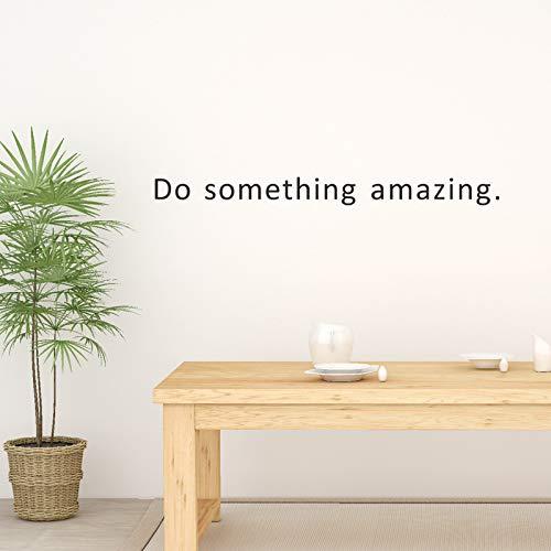 Wlyue doe-het-zelf muursticker, maak iets verbazingwekkende muursticker, geïnspireerd op woonkamer, slaapkamer, moderne thuisdecoratie, stickers, citaten
