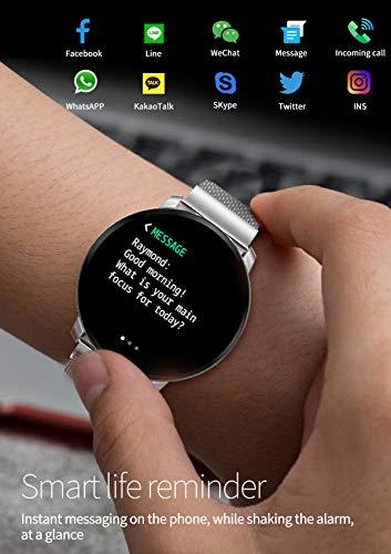 Smartwatch Fashion para Hombre Mujer Impermeable Reloj Inteligente Monitores de Actividad Fitness Tracker con Monitor de… 3