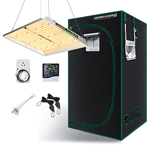 MARS HYDRO TS 1000W LED Grow Light Set with 3x3FT Grow Tent Set for Indoor Plants