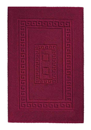 CASA TESSILE Torino Tapis de Bain éponge 60 x 90 cm - Bordeaux
