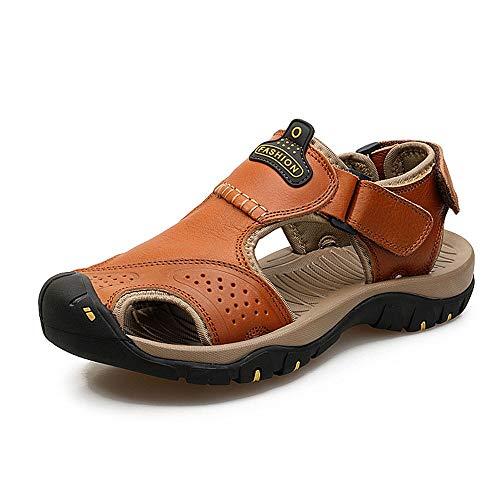 Liushoes Athletic Slides Sandali Sport Uomo Traspirante Pelle Outdoor Leisure Antiscivolo Scarpe da Spiaggia Pantofole Escursionismo Pescatore Leggero e Confortevole da Viaggio