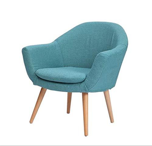DWWSP Haus Dekoration Eleganter gepolsterter Stoff-Club-Stuhl mit Massivholz-Beinen Akzentstuhl for Home Hotel Iving Room Möbelsessel zeitgenössisch (Color : Blue Color)