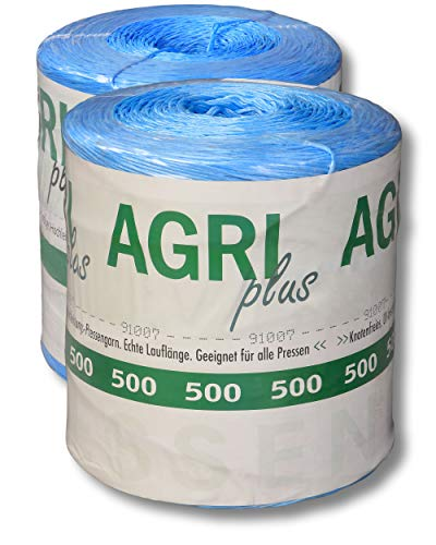 AGRI plus 10 kg = 1 Doppelpack Pressengarn/Erntegarn für Hochdruckballen 500 m/kg - Blau
